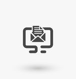 Simple message icon on display on white background. Simple message icon on display vector. EPS8. Stock Photo