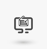Simple message icon on display on white background. Simple message icon on display vector. EPS8. Royalty Free Stock Image
