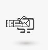 Simple message icon on display on white background. Simple message icon on display vector. EPS8. Stock Photos