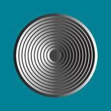 Simple metal disc icon stock illustration