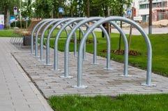 Simple metallic bicycle parking Royalty Free Stock Photo