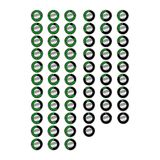 Simple, metallic digital timer icon set. Designed as a 60 frame animation. 60 second timer. Isolated on white vector illustration
