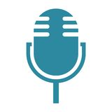 Simple Microphone Icon Royalty Free Stock Photos