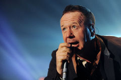 Simple Minds. Singer James Kerr of Simple Minds during performance in Prague, Czech republic, February 28, 2014 Stock Image