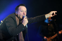 Simple Minds. Singer James Kerr of Simple Minds during performance in Prague, Czech republic, February 28, 2014 Stock Photos