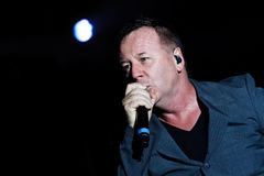 Simple Minds - Belgrade BeerFest 2011. BELGRADE, SERBIA - AUGUST 18 : Scottish pop rock music band SIMPLE MINDS performs onstage at Belgrade BeerFest 2011 at Stock Photo