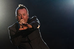 Simple Minds - Belgrade BeerFest 2011. BELGRADE, SERBIA - AUGUST 18 : Scottish pop rock music band SIMPLE MINDS performs onstage at Belgrade BeerFest 2011 at Royalty Free Stock Photo