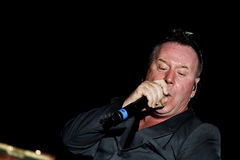Simple Minds - Belgrade BeerFest 2011. BELGRADE, SERBIA - AUGUST 18 : Scottish pop rock music band SIMPLE MINDS performs onstage at Belgrade BeerFest 2011 at Royalty Free Stock Photography