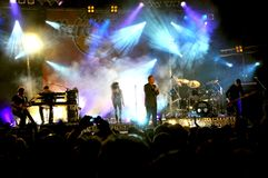 Simple Minds concert in Florence Royalty Free Stock Photo
