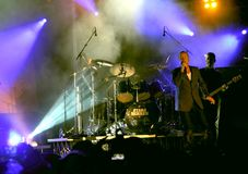 Simple Minds concert in Italy Stock Photos