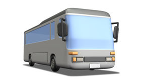 Simple Miniature model of the bus. Royalty Free Stock Images