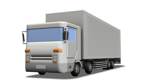 Simple Miniature model of the truck. Royalty Free Stock Photography