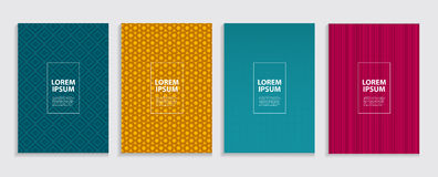 Simple Minimal Covers Template Design. Future Geometric Pattern. Stock Images