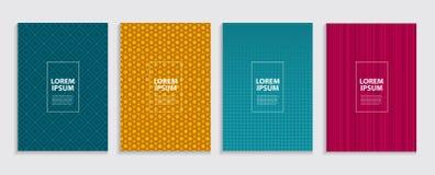 Simple Minimal Covers Template Design. Future Geometric Pattern. royalty free illustration
