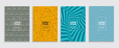 Simple Minimal Covers Template Design. Future Geometric Pattern. Royalty Free Stock Images