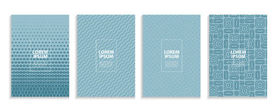 Simple Minimal Covers Template Design. Future Geometric Pattern. Royalty Free Stock Photo