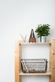 Simple minimalist furniture, wooden shelf Royalty Free Stock Photography