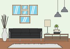 Simple Living room vector stock illustration