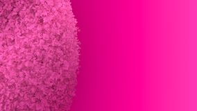 Simple minimalistic abstract 3D rendering of a gradient pink brush bush on a flashy hot pink background. royalty free illustration