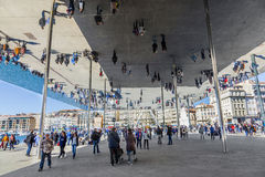 Simple Mirrored Pavillion created by Norman Foster Stock Image