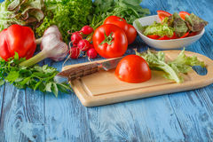 Simple mixed vegetable salad. Royalty Free Stock Photo