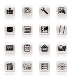 Simple Mobile Phone And Computer Icons Royalty Free Stock Photos