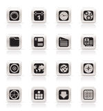 Simple Mobile Phone, Computer and Internet Icons Stock Images