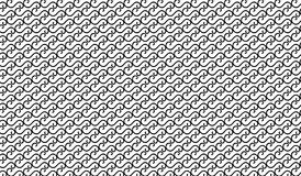 Simple Modern abstract black curved line mesh  pattern Stock Photo