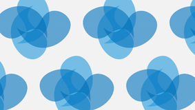 Simple Modern abstract blue curves joint  shapes pattern Royalty Free Stock Image