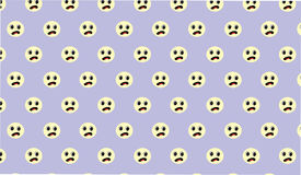 Simple Modern abstract blue sad face  pattern Royalty Free Stock Photo