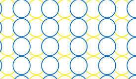 Simple Modern abstract blue and yellow rings  pattern Stock Images