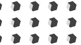Simple Modern abstract 3D big monochrome cube pattern. Simple trending Modern abstract 3D black and white cubes pattern use in decor and modern antiques royalty free illustration