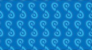 Simple Modern abstract Hawaiian tribal wave pattern Stock Image