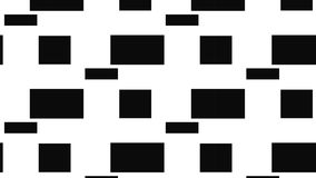 Simple Modern abstract monochrome abstract rectangle checkered  pattern Stock Images