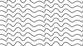 Simple Modern abstract monochrome waves pattern. Simple trending Modern abstract black and white line waves pattern  use in decor and modern antiques Stock Photo
