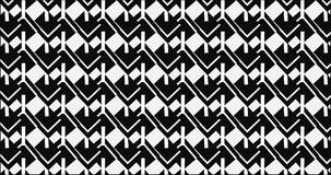 Simple Modern abstract monochrome zigzag block mesh pattern Stock Image