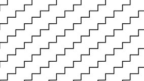 Simple Modern abstract monochrome zigzag stairs pattern Stock Photo