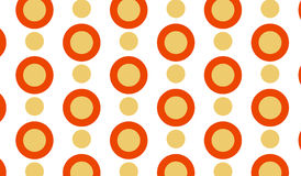 Simple Modern abstract orange target pattern Stock Images