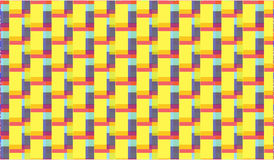 Simple Modern abstract purple and yellow zigzag tiles  pattern Stock Photos