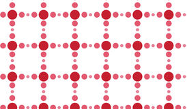 Simple Modern abstract red circles net pattern. Simple trending Modern abstract red circles mesh pattern use in decor and modern antiques royalty free illustration