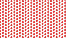 Simple Modern abstract red flower  pattern Royalty Free Stock Photo