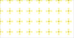 Simple Modern abstract yellow flowers pattern. Simple trending Modern abstract yellow flowers pattern royalty free illustration