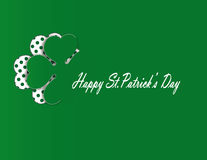 Simple modern card with four-leaf clover. Cute card with four-leaf clover on st. Patrick's day Royalty Free Stock Photo