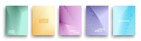 Modern Covers Template Design. Fluid colors. Set of Trendy Holographic Gradient shapes for Presentation, Magazines, Flyers. EPS 10. Simple Modern Covers Template vector illustration