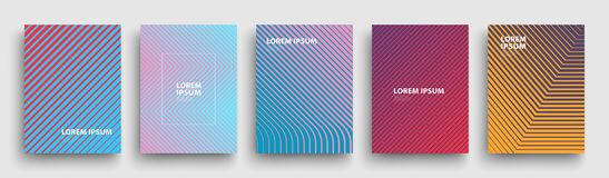Simple Modern Covers Template Design. Set of Minimal Geometric Halftone Gradients for Presentation, Magazines, Flyers. EPS 10. Simple Modern Covers Template vector illustration