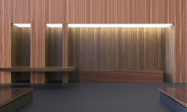 Simple Modern Empty Room and Workplace Hardwood Clean Style / Contemporary Minimal Art Royalty Free Stock Photo