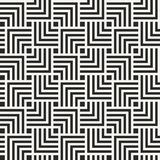 Simple modern geometric texture with structure of repeating black and white rectangles Stock Image