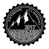 Simple modern hipster mountain badge design template. extreme   Stock Photography