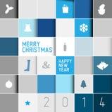 Simple modern minimalistic vector christmas card Royalty Free Stock Image