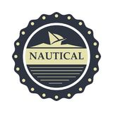 Nautical, Sailor logo design template stock photos